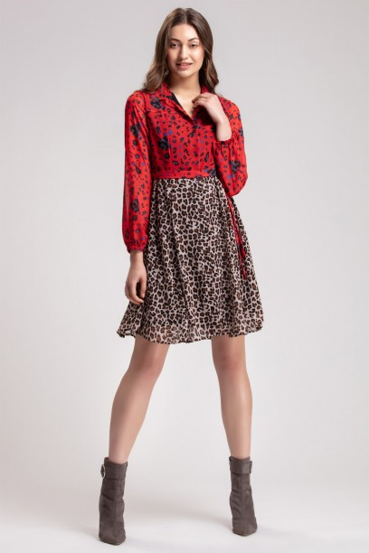Aria Print Block Dress