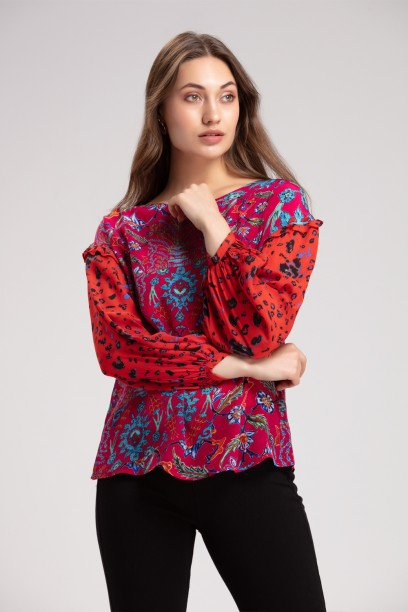 Adria Blousson Sleeve Top