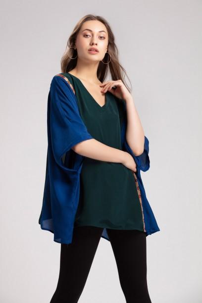 Color Block Kimono Top