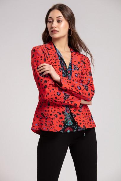 Red Leopard Jacket