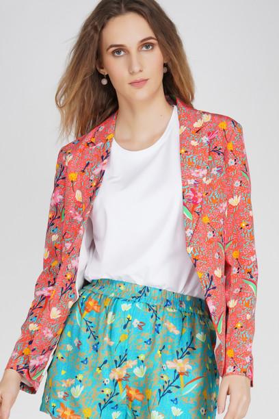 Coral Floral Jacket