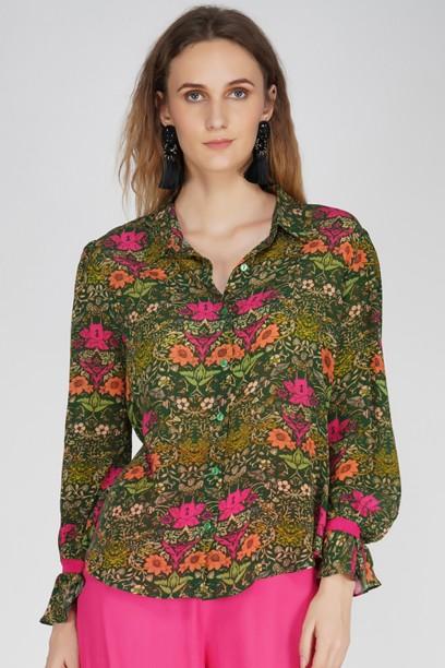 Astrid Blouson Buttondown Shirt