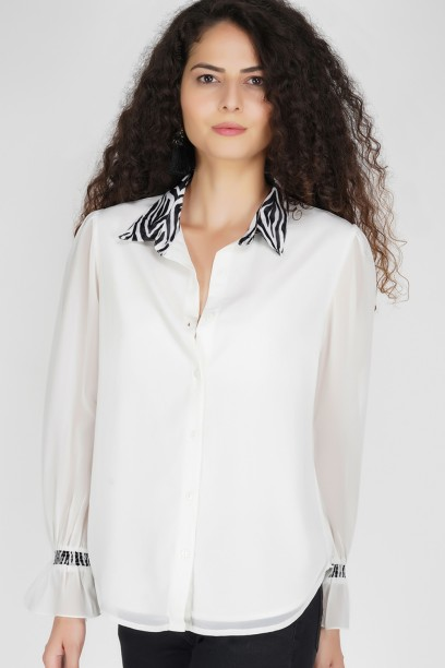 Astrid Blouson Buttondown Shirt