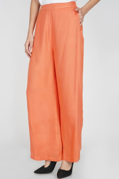 Coral Flare Pants