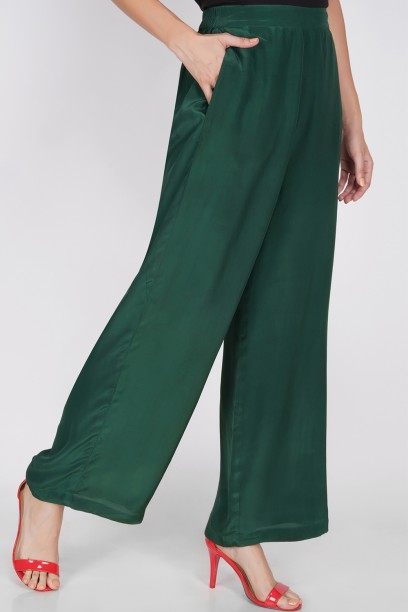 Green Flare Pants