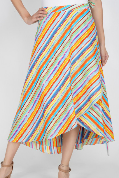 Stripe song skirt
