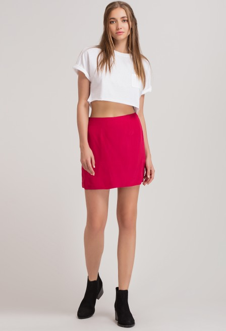 Fuchsia Mini Skirt