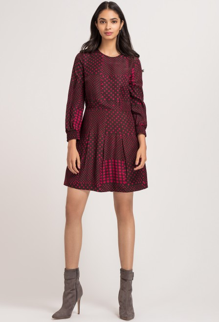Fuchsia Batik Silk Sheath Dress
